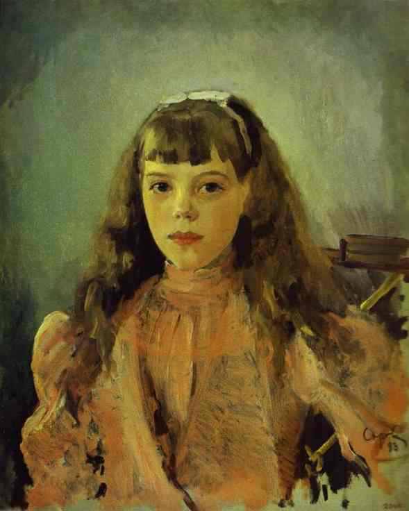 Portrait Of Grand Duchess Olga Alexandrovna Study 1893 | Valentin Serov | oil painting