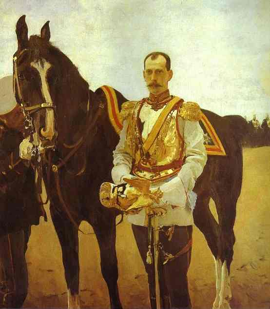Portrait Of Grand Duke Pavel Alexandrovich 1897 | Valentin Serov | oil painting