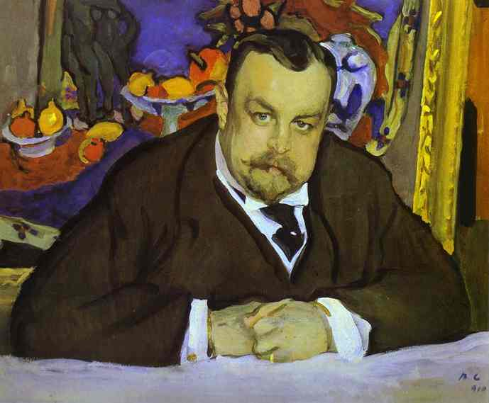 Portrait Of Ivan Morozov | Valentin Serov | oil painting