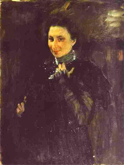 Portrait Of Mara Oliv 1895 | Valentin Serov | oil painting