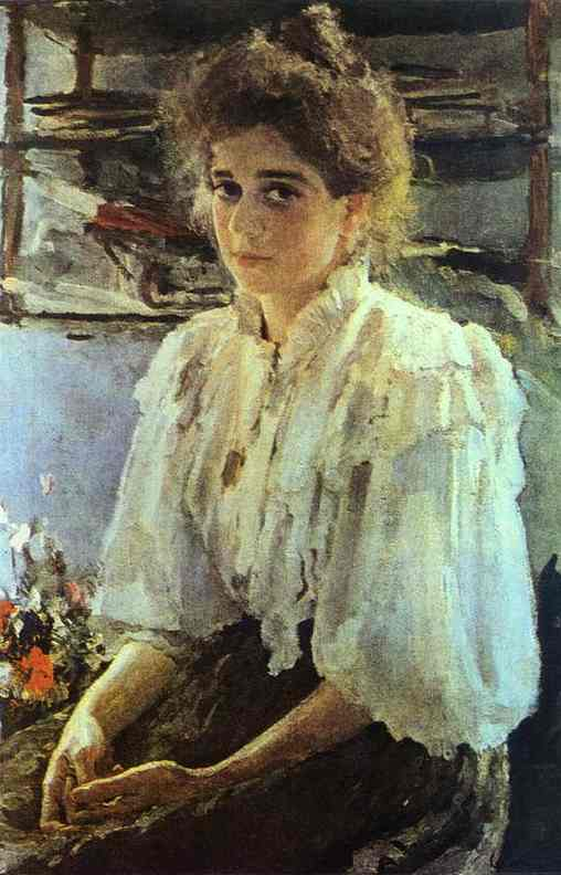 Portrait Of Maria Lvova 1895 | Valentin Serov | oil painting