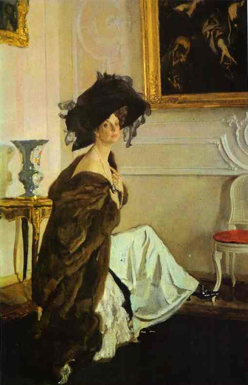 Portrait Of Princess Olga Orlova 1911 | Valentin Serov | oil painting