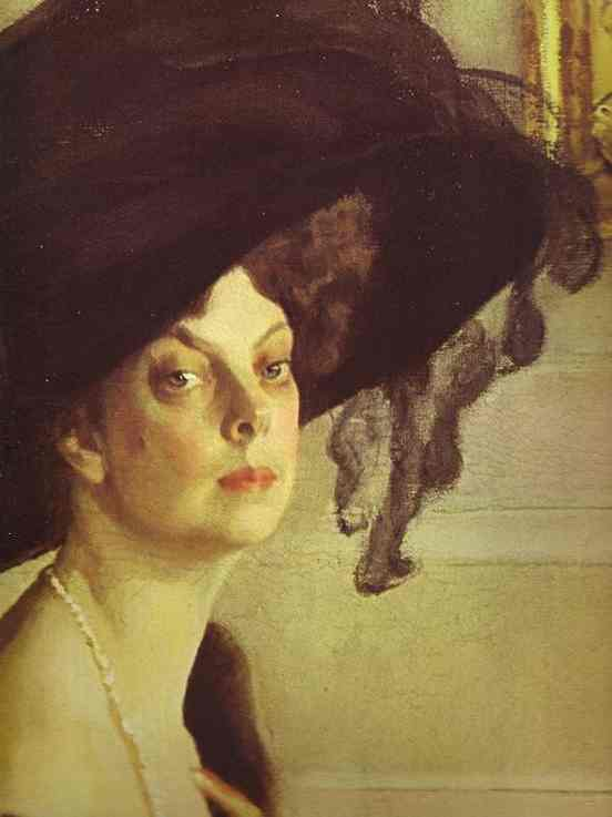 Portrait Of Princess Olga Orlova Detail 1911 | Valentin Serov | oil painting