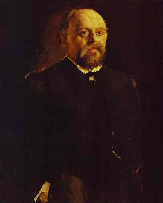 Portrait Of Savva Mamontov 1887 | Valentin Serov | oil painting