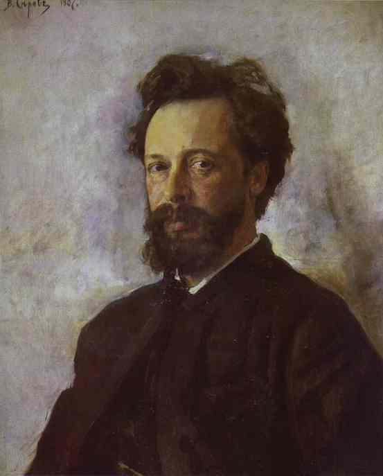 Portrait Of Sergei Chokolov 1887 | Valentin Serov | oil painting