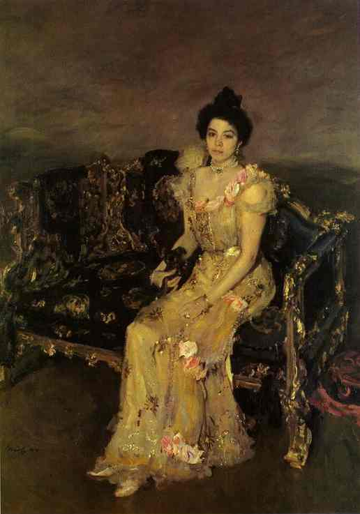 Portrait Of Sophia Botkina 1899 | Valentin Serov | oil painting