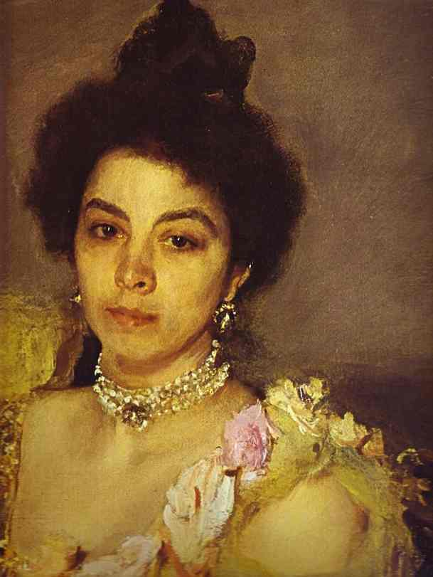 Portrait Of Sophia Botkina Detail 1899 | Valentin Serov | oil painting