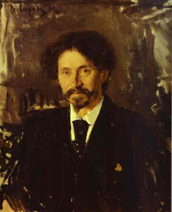 Portrait Of The Artist Ilya Repin 1892 | Valentin Serov | oil painting