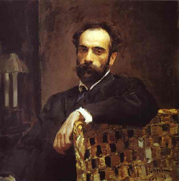 Portrait Of The Artist Isaac Levitan 1893 | Valentin Serov | oil painting