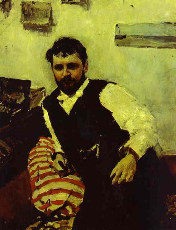 Portrait Of The Artist Konstantin Korovin 1891 | Valentin Serov | oil painting