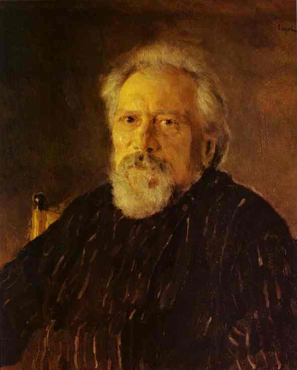 Portrait Of The Author Nikolay Leskov 1894 | Valentin Serov | oil painting