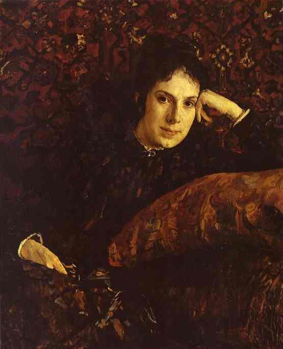 Portrait Of Yekaterina Chokolova 1887 | Valentin Serov | oil painting