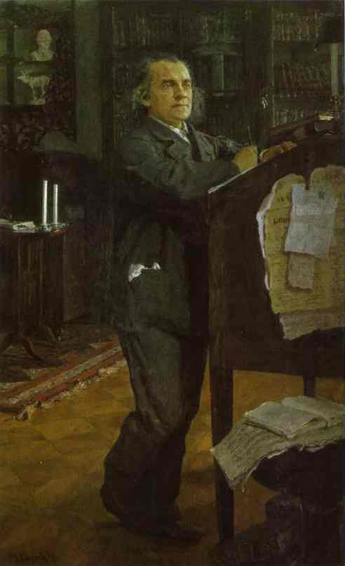 Portrait Of The Composer Alexander Serov 1888-89 | Valentin Serov | oil painting