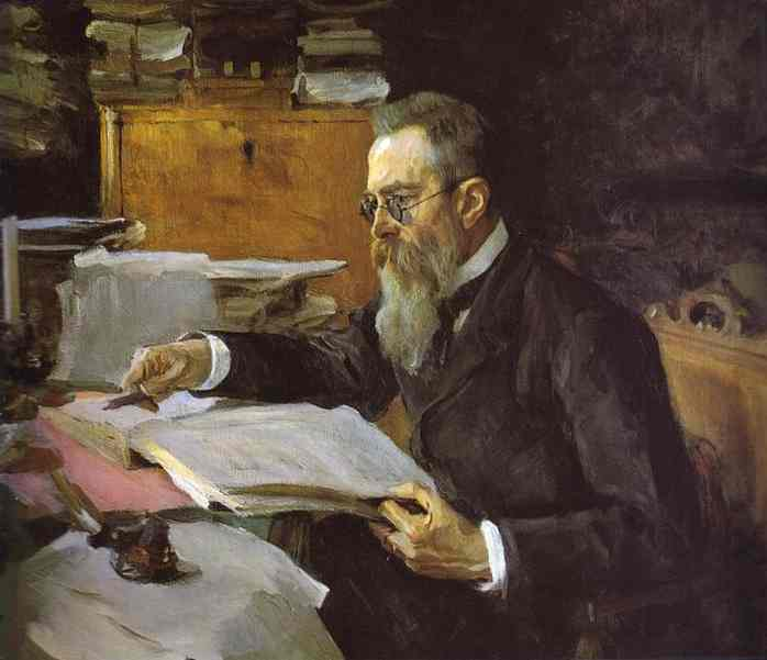 Portrait Of The Composer Nikolay Rimsky Korsakov 1898 | Valentin Serov | oil painting