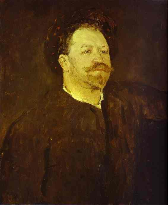 Portrait Of The Italian Singer Francesco Tamagno 1891 | Valentin Serov | oil painting