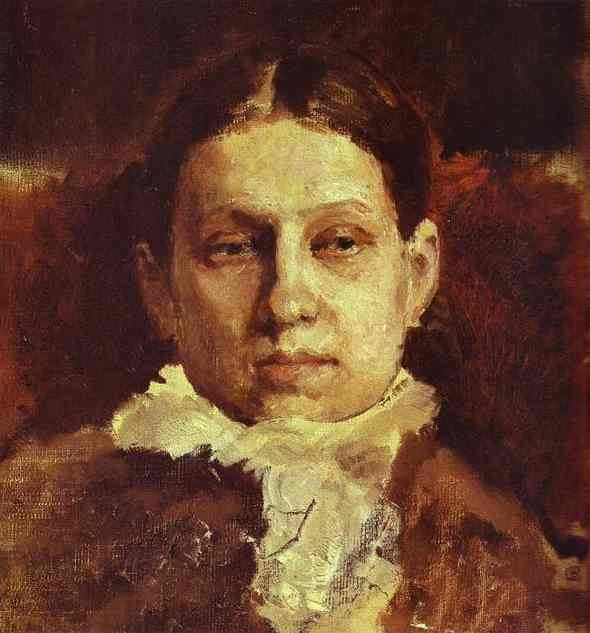 Portrait Of Vera Repina 1881 | Valentin Serov | oil painting