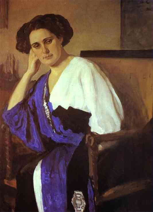 Portrait Of Yelena Balina 1911 | Valentin Serov | oil painting