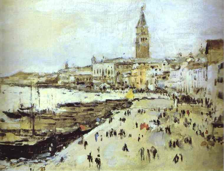 Seaside In Venice Study 1887 | Valentin Serov | oil painting