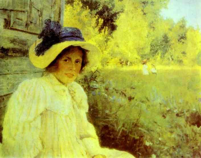 Summertime Portrait Of Olga Serova 1895 | Valentin Serov | oil painting