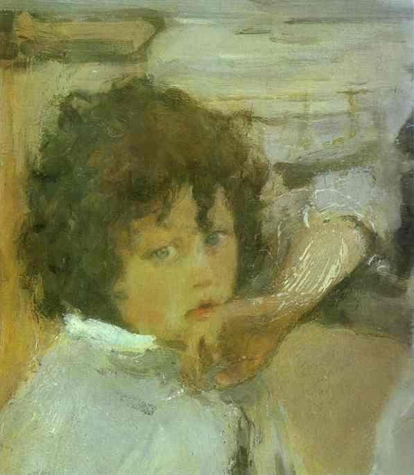 The Children (Sasha Serov) Detail 1899 | Valentin Serov | oil painting