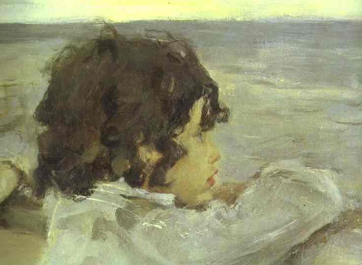 The Children (Yura Serov) Detail 1899 | Valentin Serov | oil painting