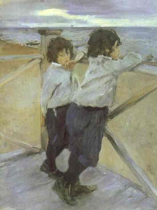The Children Sasha And Yura Serov 1899 | Valentin Serov | oil painting
