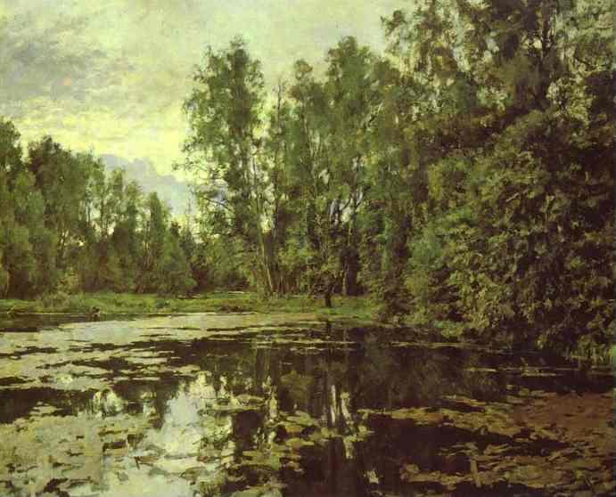 The Overgrown Pond Domotcanovo 1888 | Valentin Serov | oil painting