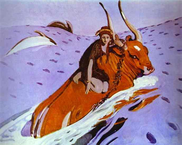 The Rape Of Europe 1910 | Valentin Serov | oil painting