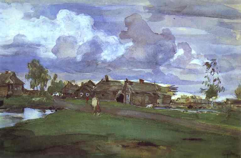 Village 1898 | Valentin Serov | oil painting