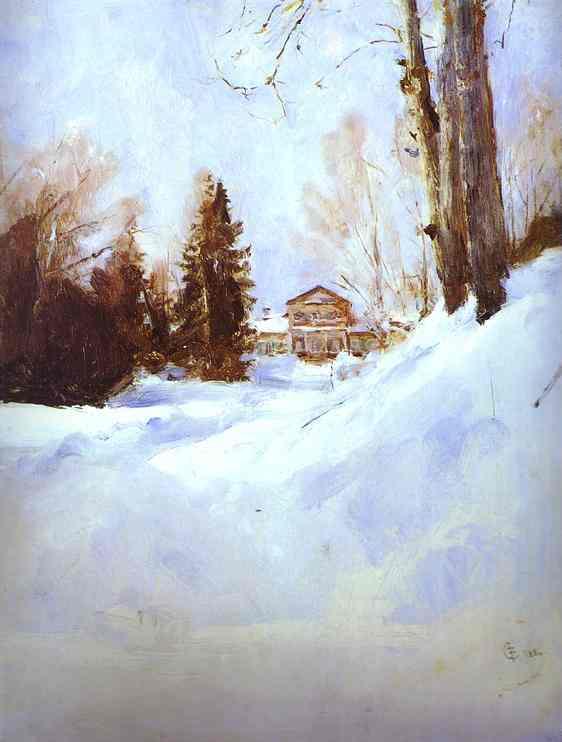 Winter In Abramtsevo The Mansion Study 1886 | Valentin Serov | oil painting