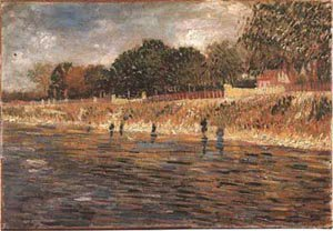 The Banks Of The Seine 1887 | Vincent Van Gogh | oil painting