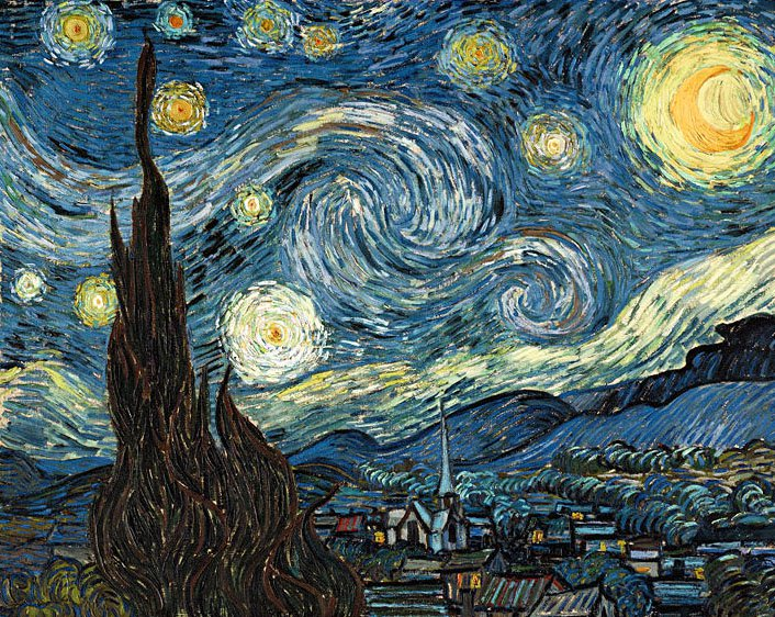 Starry Night 1889 | Vincent Van Gogh | oil painting