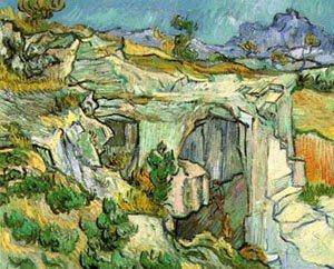 Entrance To A Quarry Near Saint Remy 1889   Vincent Van Gogh   oil painting