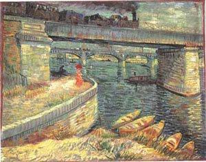 Bridges Across The Seine At Asnieres 1887 | Vincent Van Gogh | oil painting