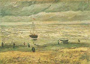 Beach At Scheveningen In Stormy Weather 1882 | Vincent Van Gogh | oil painting