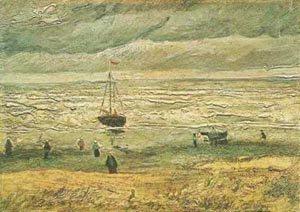 Beach At Scheveningen In Stormy Weather 1882 | Vincent Van Gogh | oil painting