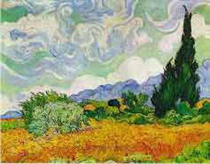 Wheat Field With Cypresses 1889 | Vincent Van Gogh | oil painting