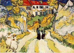 Village Street And Stairs With Figures 1890 | Vincent Van Gogh | oil painting