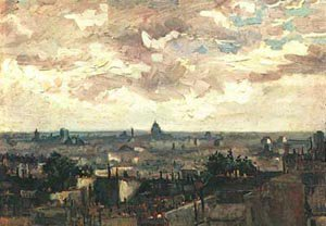 View Pf The Roofs Of Paris 1886 | Vincent Van Gogh | oil painting