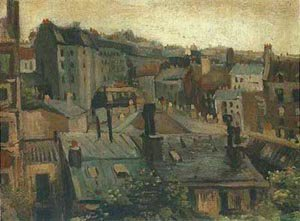 View Of The Roofs Paris | Vincent Van Gogh | oil painting