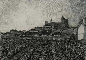 View Of Saintes Maries With Church And Ramparts 1888 | Vincent Van Gogh | oil painting