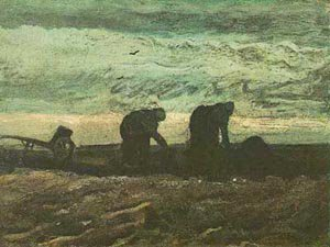 Two Peasant Woman In The Peat Field 1883 | Vincent Van Gogh | oil painting