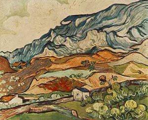 Alpilles Mountainous Lanscape Near Saint Remy  1889 | Vincent Van Gogh | oil painting