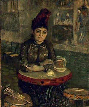 Agostina Segatori At The Cafe Du Tambourin 1887 | Vincent Van Gogh | oil painting