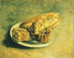 A Plate Of Rolls 1887 | Vincent Van Gogh | oil painting