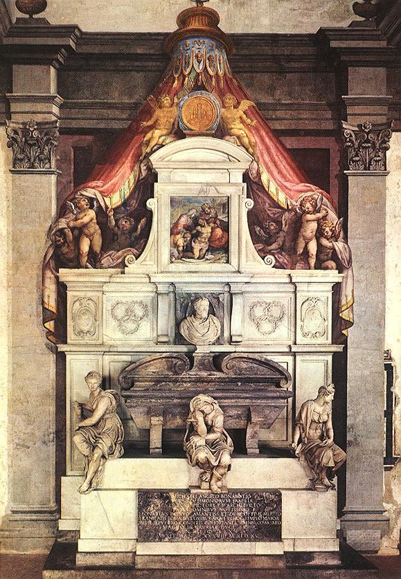 Monument to Michelangelo | Vasari | oil painting