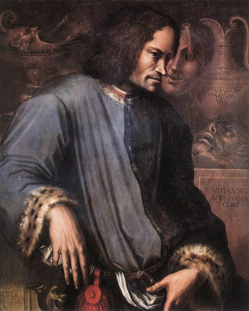 Portrait of Lorenzo the Magnificent | Vasari | oil painting