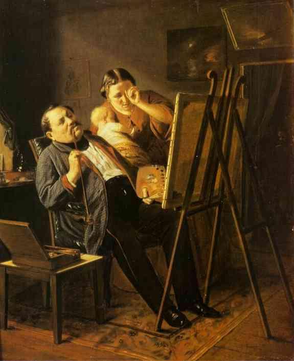 Amateur 1862 | Vasily Perov | oil painting