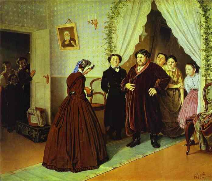 Arrival Of A New Governess In A Merchant House 1866 | Vasily Perov | oil painting