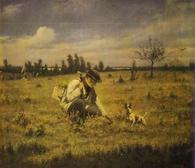 Botanist 1874 | Vasily Perov | oil painting